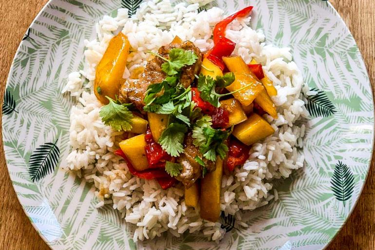 zdrowy przepis_stir-fry z mango