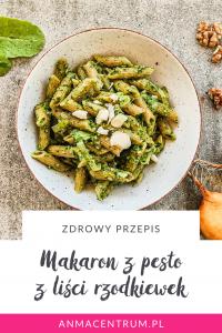 liście rzodkiewek_makaron z pesto_dieta