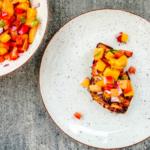 kurczak z brzoskwiniową salsą_zdrowe przepisy_dietetyk
