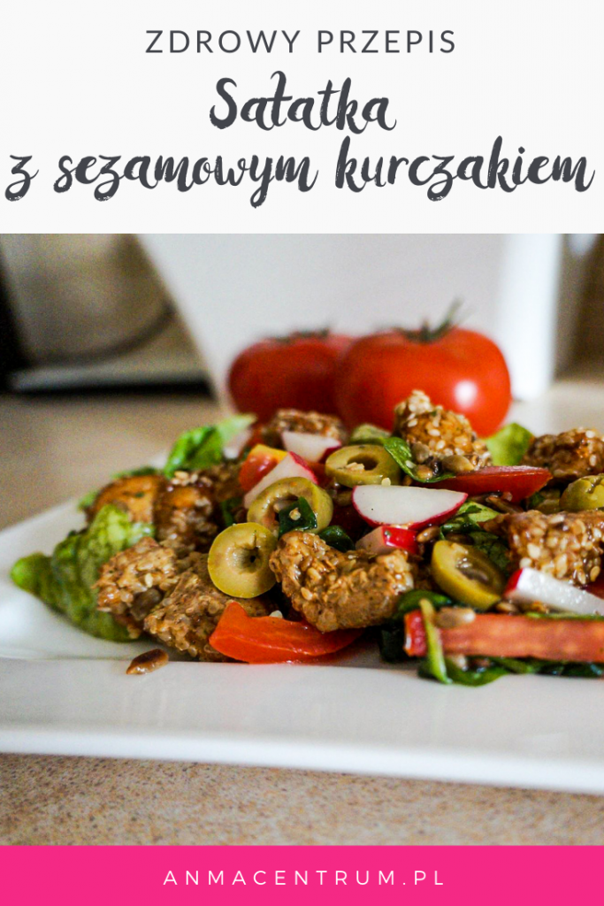 blog dietetyczny_sałatka z sezamowym kurczakiem