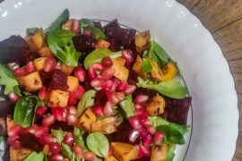 blog dietetyczny - sałatka z batata buraka i granatu